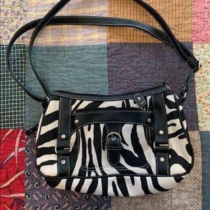 Handbags - Cute zebra print bag with lots of pockets
